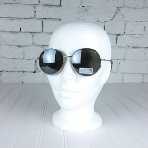 Joe's Jeans Round Wire Frame Sunglasses Gold